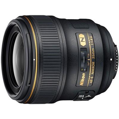 AF FX Full Frame NIKKOR 35mm f/1.4G Fixed Focal Length Lens with Auto Focus