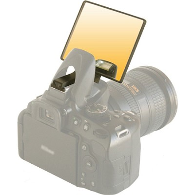 Gold Warming Deluxe Flash Bounce Mirror for Pop-up Flash  - (DLUX-MIR-W)
