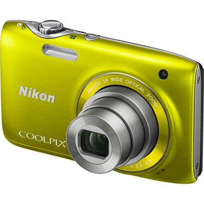 COOLPIX S3100 14MP 5x Zoom Yellow Compact Digital Camera