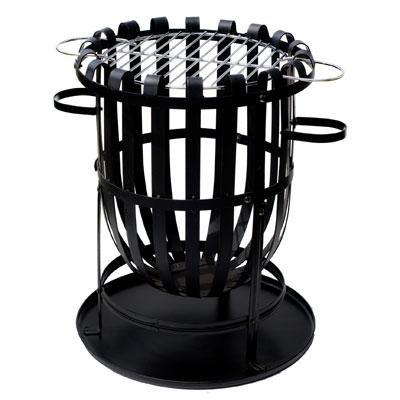 La Hacienda Vancouver Fire Basket with Grill - 56043BUS