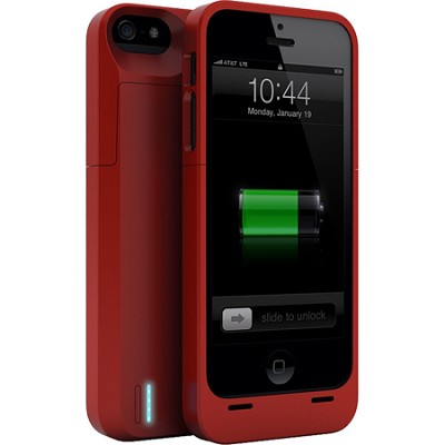 DX-05-2300B Protective Battery Case for iPhone 5 - Matte Red