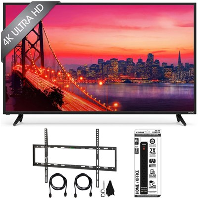 E65u-D3 - 65-Inch 4K SmartCast Ultra HD TV Home Theater w/ Flat Mount Bundle