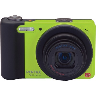 Optio RZ10 Digital Camera with 720p HD Video - Lime