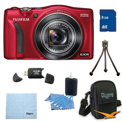 FinePix F750EXR 16MP EXR CMOS Digital Camera 8 GB Bundle (Red)