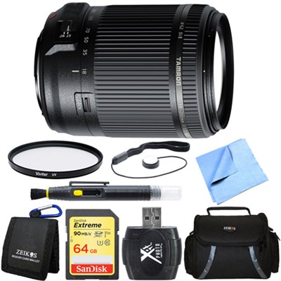 18-200mm Di II VC All-In-One Zoom Lens for Sony Mount 64GB Memory Card Bundle