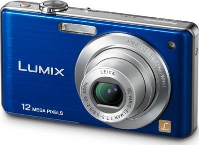 DMC-FS15A LUMIX 12.1 MP Digital Camera w/ 5x Optical Zoom (Blue) Refurbished