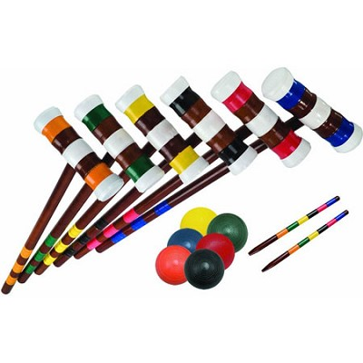 Advanced 6-Player 24` Mallet Croquet Set