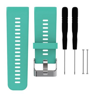 Silicone Band Strap + Tools for Garmin Vivoactive HR Sport Watch (Teal)