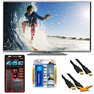 LC-60LE857U Aquos 60-Inch 3D Wifi 240Hz 1080p LED TV Plus Surge Protector Bundle