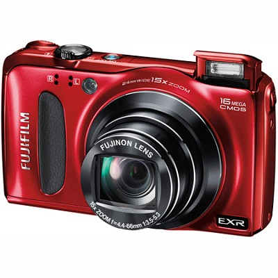 Finepix F660EXR 16MP CMOS 15x Optical Zoom 1080P HD Digital Camera (Red)