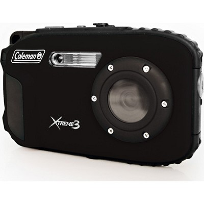 C9WP Xtreme3 20MP Waterproof Black Digital Camera with Full 1080p HD Video