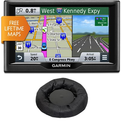 Nuvi 65LM Essential Series GPS System w/ Lifetime Maps + Friction Mount Bundle
