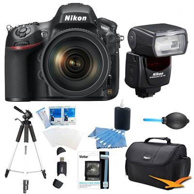 D800 36.3 MP CMOS FX-Format DSLR Camera Body with SB-700 Speedlight Flash Bundle