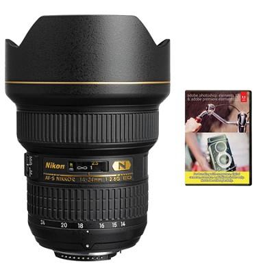 14-24mm f/2.8G AF-S NIKKOR ED Lens, Nikon 5-Year USA Warranty w/ Elements Bundle