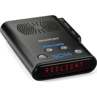 Passport SC55 Red Light Camera and Speed Trap Locator With Radar Detector Kit