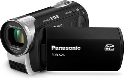 SDR-S26K - SD memory card Camcorder with 70x Zoom & OIS (Black)