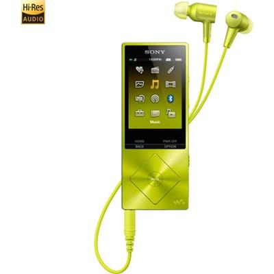 NWA26HN 32GB Hi-Res Walkman Music Player w/Noise Cancelation - Yellow - OPEN BOX