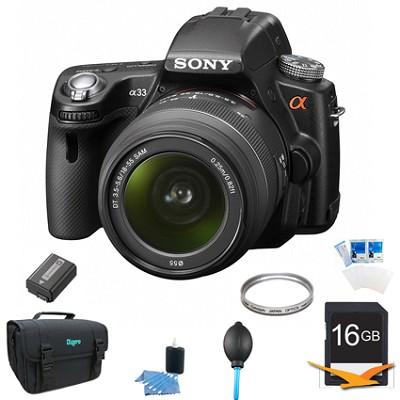 Alpha SLT-A33L 14.2 MP DSLR w/ Sony 18-55mm Lens Kit