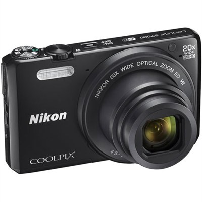 Coolpix S7000 16MP 1080p WiFi Digital Camera w/ 20X Optical Zoom - Refurbished