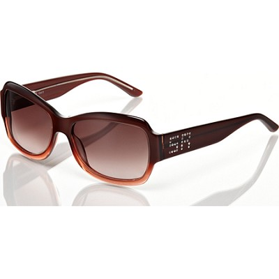 Burgundy Sunglasses with Burgundy lens and SR Rhinestone Sgnature