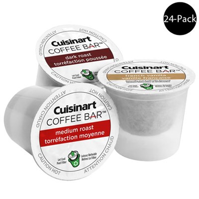 Coffee Bar K Cup Single Serve Capsules 24 Count (For All K-Cup Machines)