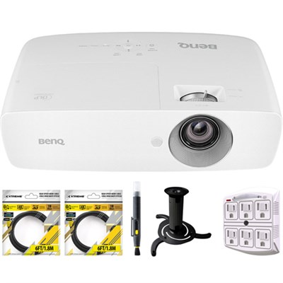 DLP 1080p Projector with Sport Mode Designed with Ceiling Bracket Bundle