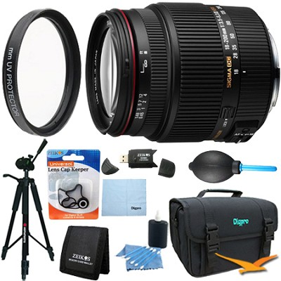 18-200mm F3.5-6.3 II DC OS HSM Zoom Lens for Canon EOS DSLR Lens Kit Bundle