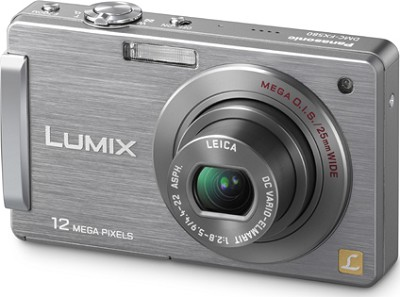 DMC-FX580S LUMIX 12.1 MP Compact Digital Camera with 3.0` Touch LCD (Silver)