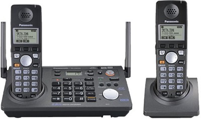 KX-TG6702B 5.8GHz 2 Line Expandable Phone With Extra Handset (1 Base+2 Handsets)