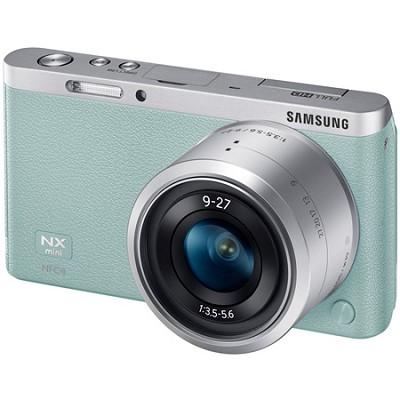 NX Mini Mirrorless Digital Camera with 9-27mm Lens and Flash - Mint