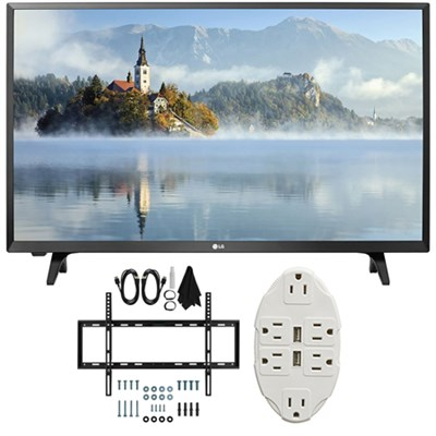 LJ500B Series 32` Class LED HDTV 2017 Model 32LJ500B with Wall Mount Bundle