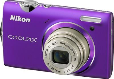 COOLPIX S5100 12MP Slim Purple Digital Camera w/ 720p HD Video