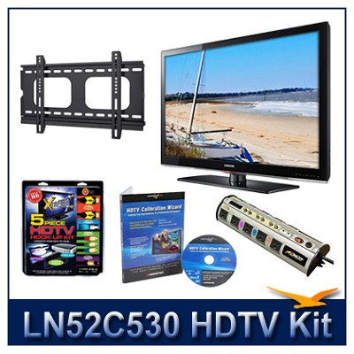 LN52C530 52` HDTV + Flat Mount + Hook-Up + Power Protection + Calibration DVD