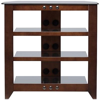NFAV230 - Natural Four Shelf A/V Stand for TVs up to 32` (Mocha Finish)