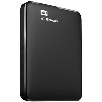 750 GB WD Elements Portable USB 3.0 Hard Drive Storage - OPEN BOX