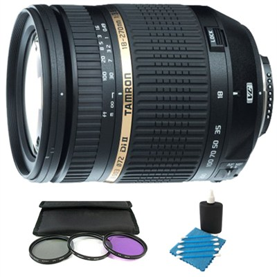 18-270mm f/3.5-6.3 DI II VC  LD for Nikon w/ Deluxe Filter Kit and Cleaning kit