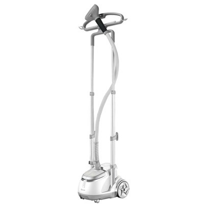 GS45-DJ Professional Series Dual Bar Garment Steamer with Foot Pedals, Silver