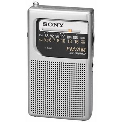 ICF-S10MK2 Pocket AM/FM Radio - OPEN BOX