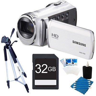 HMX-F90 52X Optimal Zoom HD Camcorder White Kit