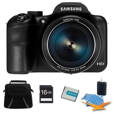 WB1100F 16.2MP 720p HD Video Smart Digital Camera Black 16GB Kit