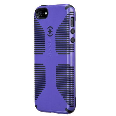 CandyShell Grip Case for iPhone 5 & 5S - Retail Packaging - Grape Purple/Black