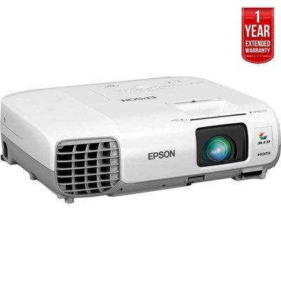 PowerLite S27 V11H694020 LCD Projector - Refurbished + 1 Year Extended Warranty