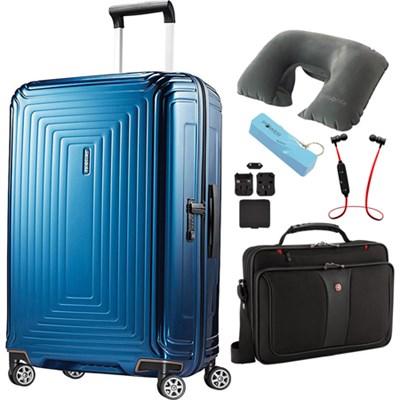 28` Neopulse Hardside Spinner Metallic Blue - Ultimate Travel Bundle