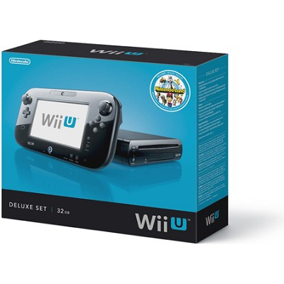 Wii U Console Black Deluxe WUPSKAFP