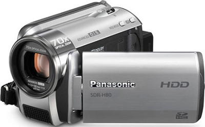 SDR-H80S Camcorder with 70X Zoom & 60GB HDD (Silver) - OPEN BOX