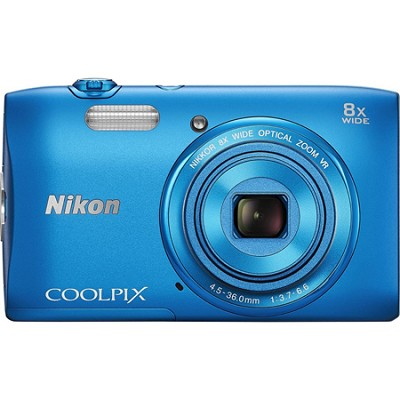COOLPIX S3600 20.1MP 2.7` LCD Digital Camera with 720p HD Video - Blue