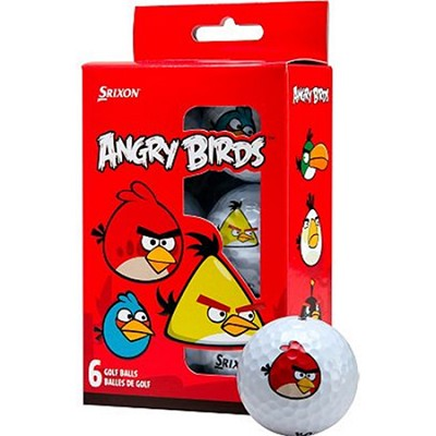 AD333 Angry Birds Golf Balls - 6 Pack