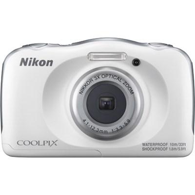 COOLPIX W100 13.2MP 1080P Waterproof Digital Camera + 3x Zoom Lens, WIFI - White