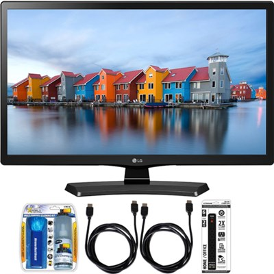 22LH4530 22-Inch Full HD 1080p IPS TV Essential Accessory Bundle