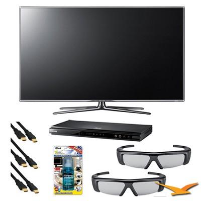 UN55D7000 55 inch 1080p 240hz 3D LED HDTV 3D Kit with Blu Ray